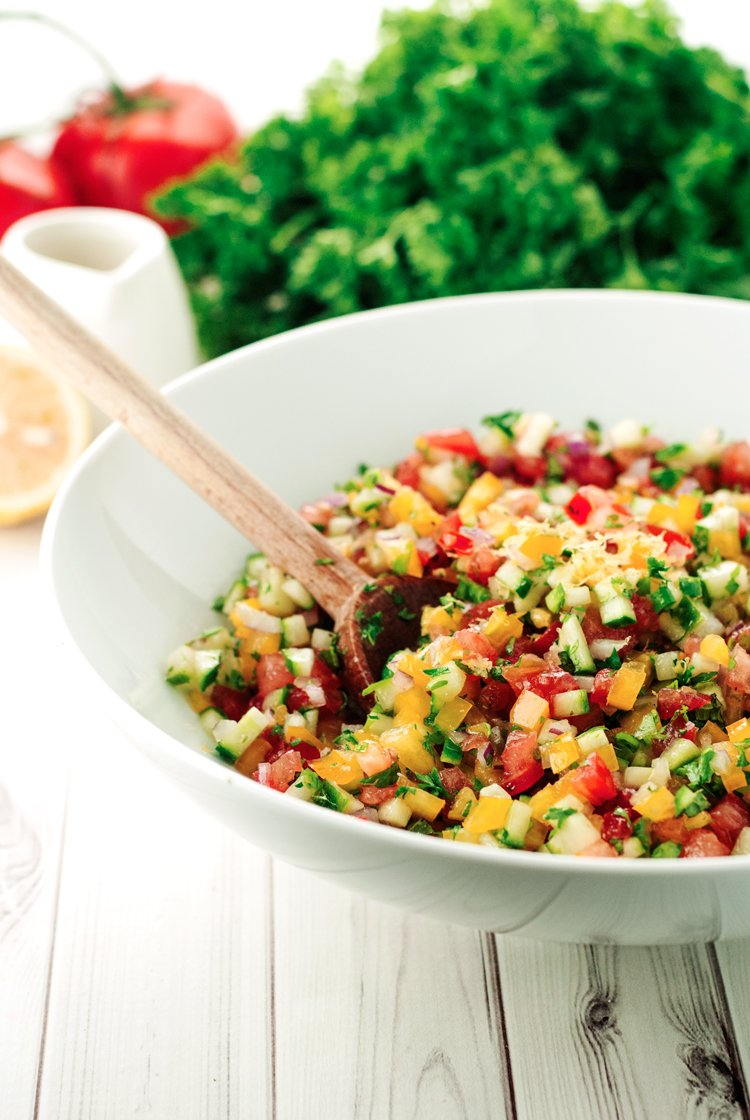 Israeli Salad Recipe | asimplepantry.com