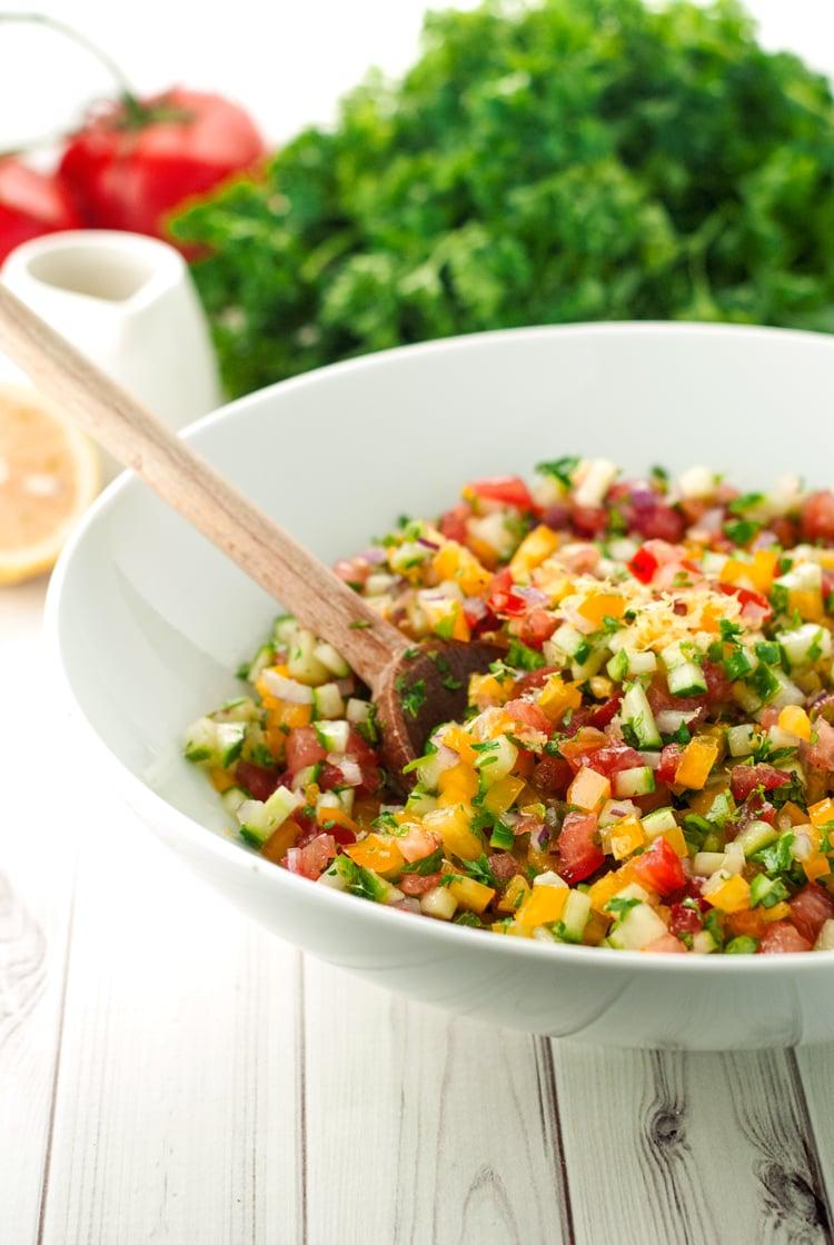 Israeli Salad Recipe   asimplepantry.com