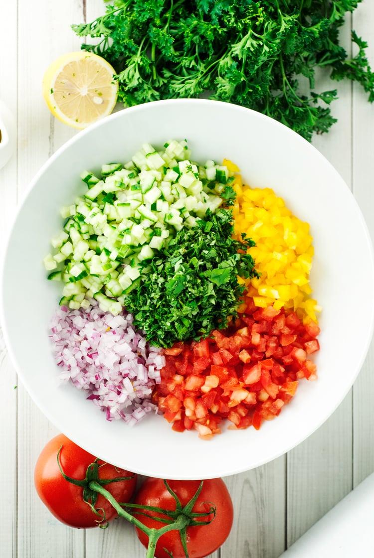 Israeli Salad Recipe - A Simple Pantry