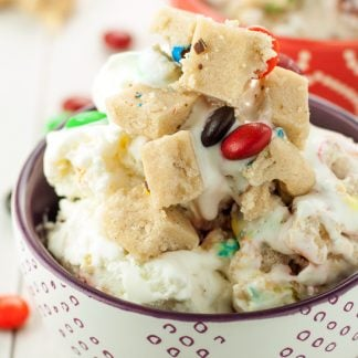 No Churn M&M's® Cookie Dough Ice Cream | asimplepantry.com