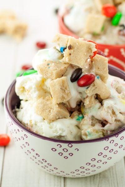 No Churn M&M's® Cookie Dough Ice Cream