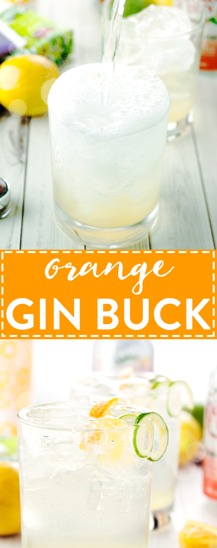 Orange Gin Buck Recipe | asimplepantry.com