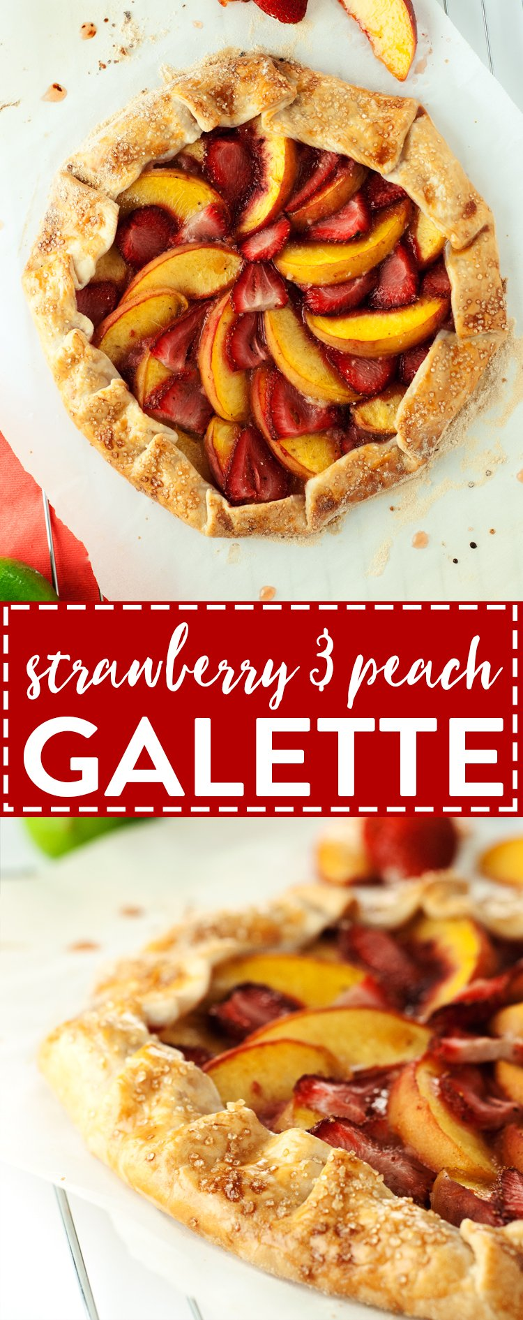 Strawberry Peach Galette Recipe | asimplepantry.com