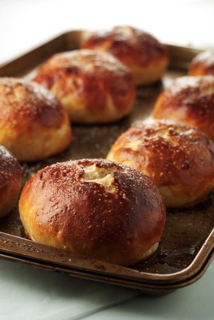 Bacon Cheddar Pretzel Rolls | asimplepantry.com