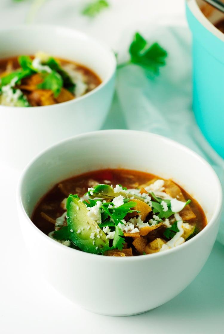 Chicken Tortilla Soup | asimplepantry.com