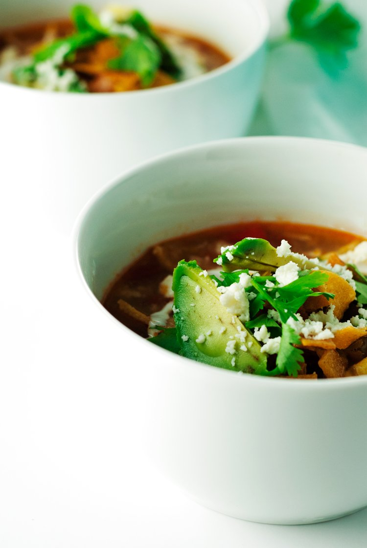 Chicken Tortilla Soup | asimplepantry.com