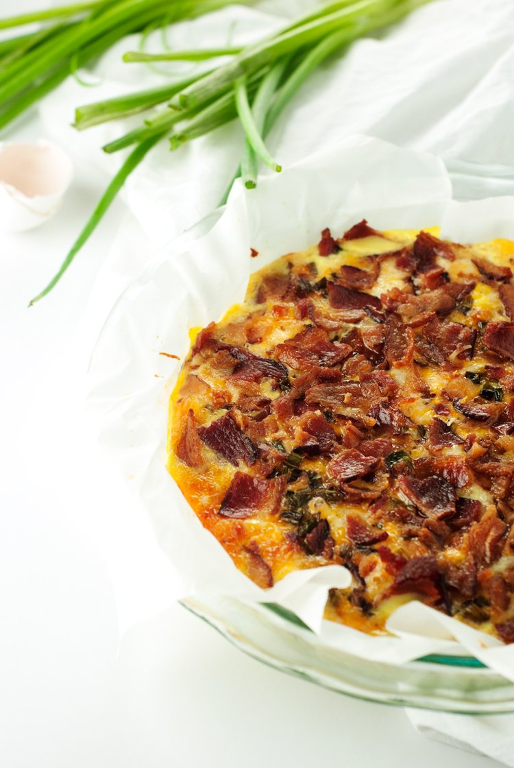 Easy Cheesy Bacon Egg Bake | asimplepantry.com