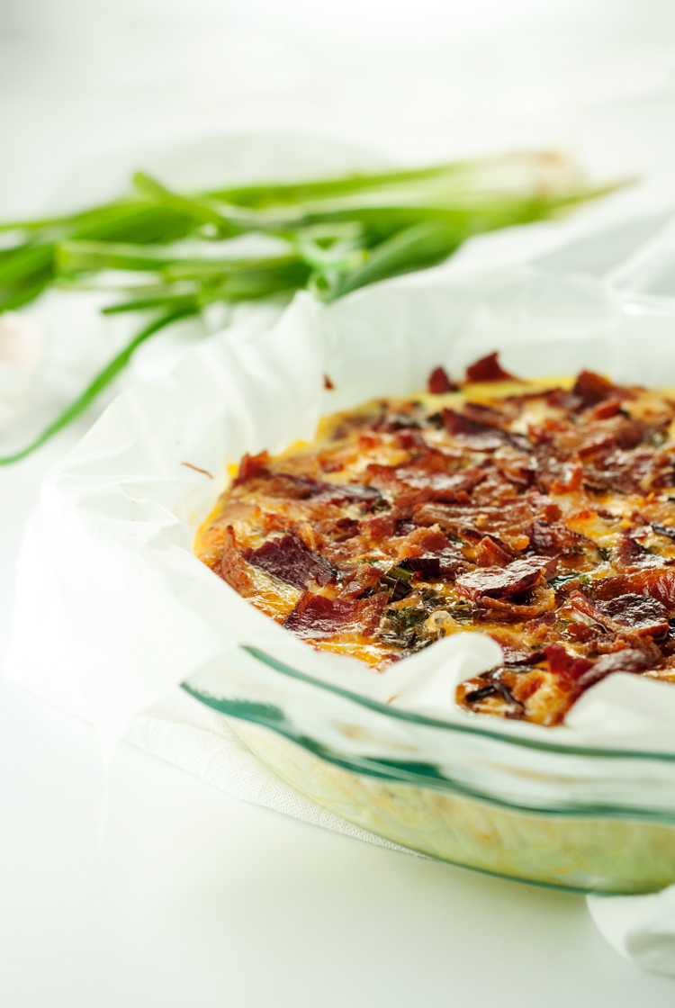 Easy Cheesy Bacon Egg Bake   asimplepantry.com