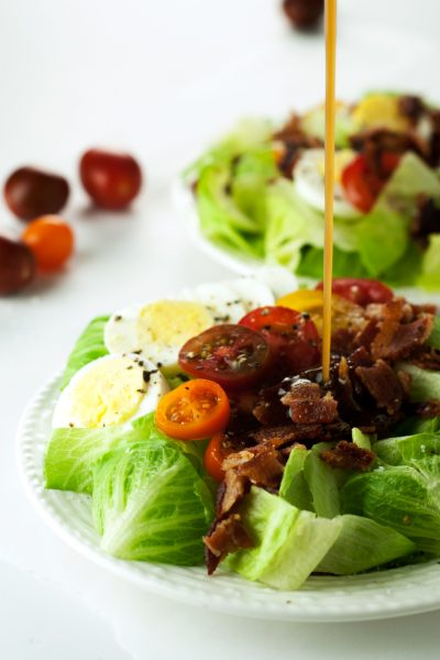 Heirloom Tomato BLT Salad with Warm Bacon Dressing