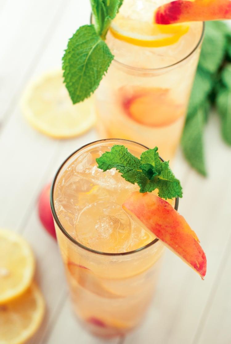 Southern Spiked Peach Iced Tea | asimplepantry.com