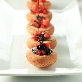 Bruschetta Mozzarella Bites | asimplepantry.com