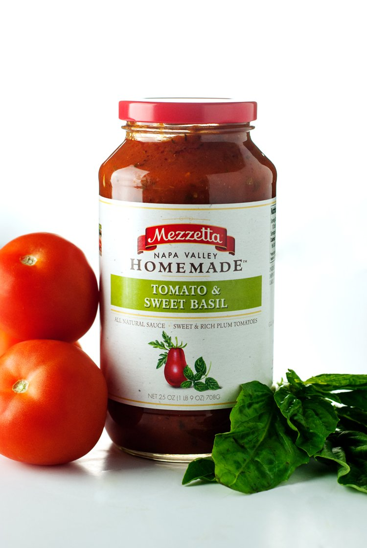 Jar of Mezzetta Nape Valley Homemade Tomato & Sweet Basil Sauce