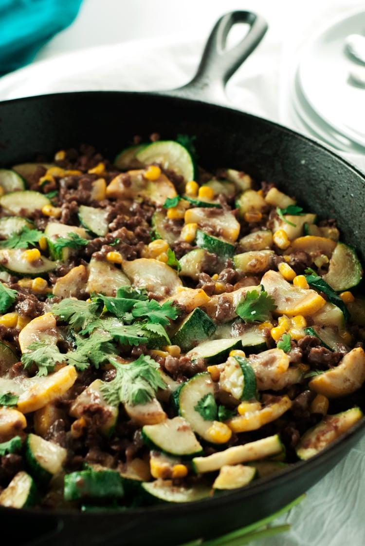 Meatless Beefy Calabacitas [gf]   asimplepantry.com