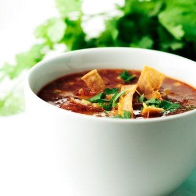 One Pot Enchilada Soup