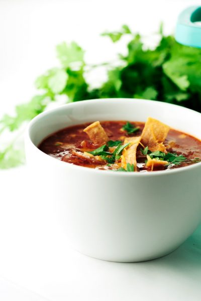 One Pot Enchilada Soup