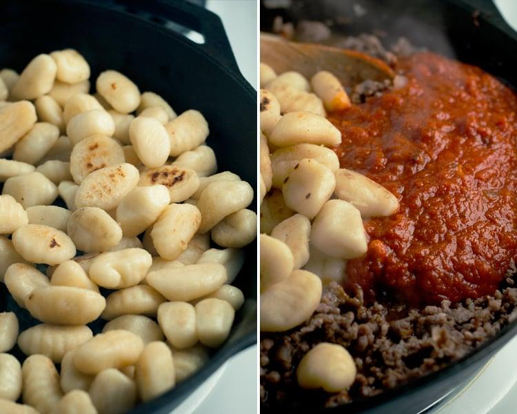 One Pot Spicy Gnocchi Marinara | asimplepantry.com