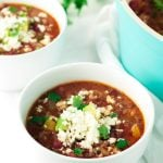 One Pot Stuffed Pepper Soup | asimplepantry.com