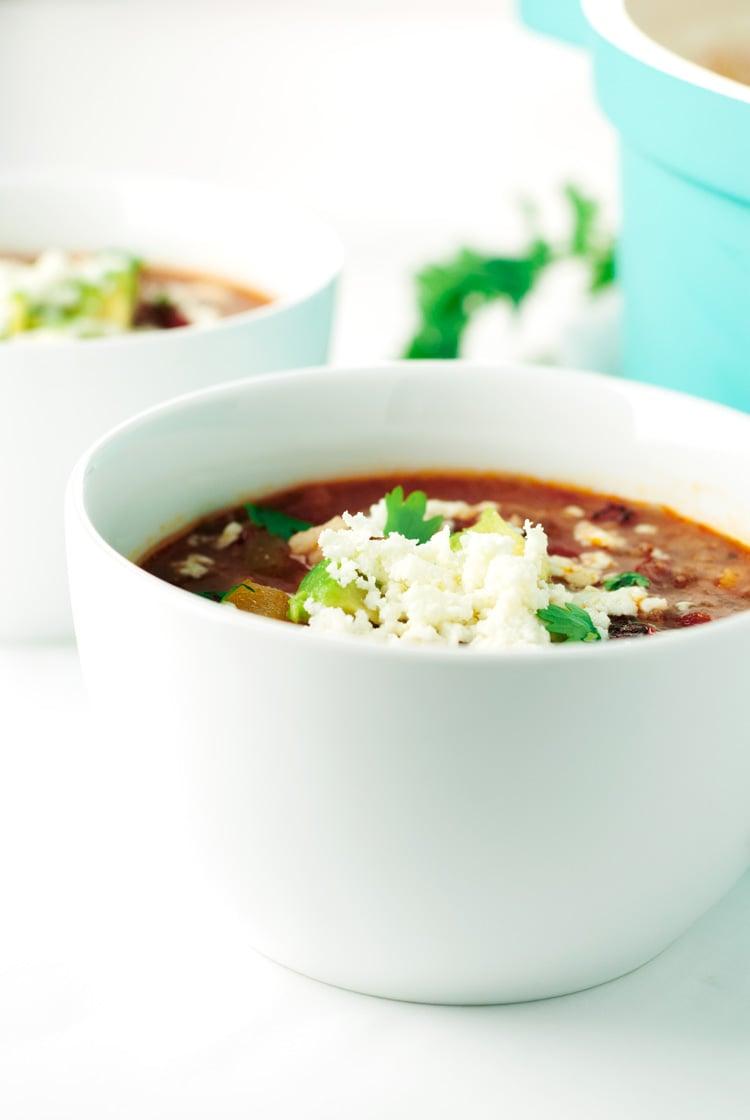 One Pot Stuffed Pepper Soup | asimplepantry.com