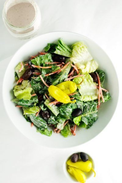 Restaurant Style House Salad with Creamy Parmesan Dressing