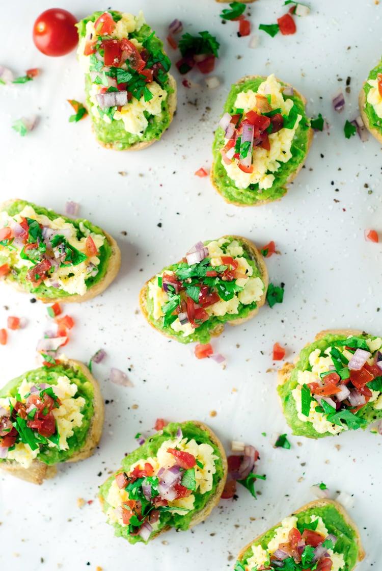 Southwestern Eggs Avocado Toast | asimplepantry.com