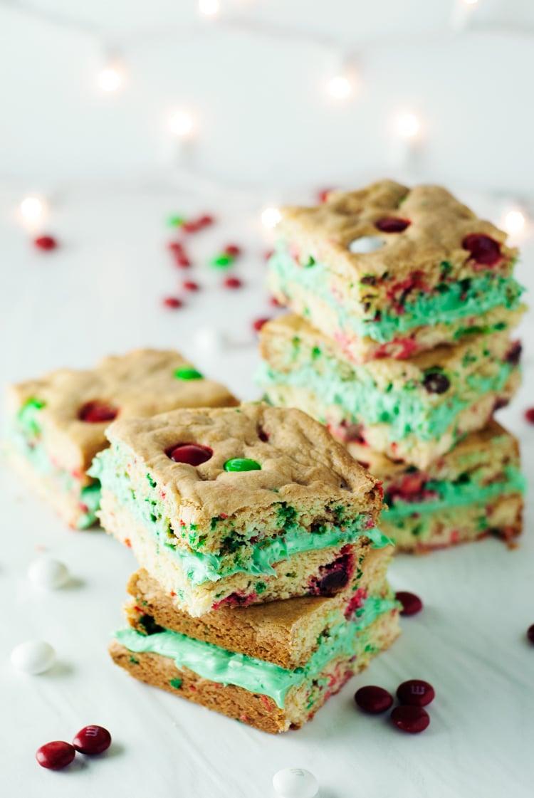 Cake Mix Cookie Bar Sandwiches | asimplepantry.com