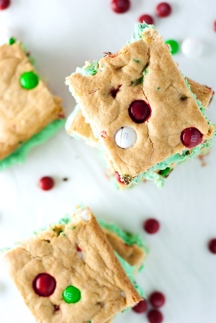 Cake Mix Cookie Bar Sandwiches | asimplepantry.com