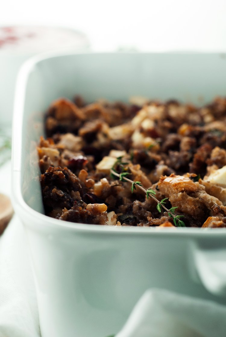 Cranberry Sausage Stuffing | asimplepantry.com