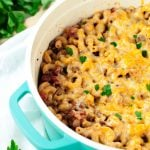 You could call it a one pot wonder or a 30 minute meal, but either way, this One Pot Chili Mac and Cheese is bound to be a dinner staple in no time! | asimplepantry.com
