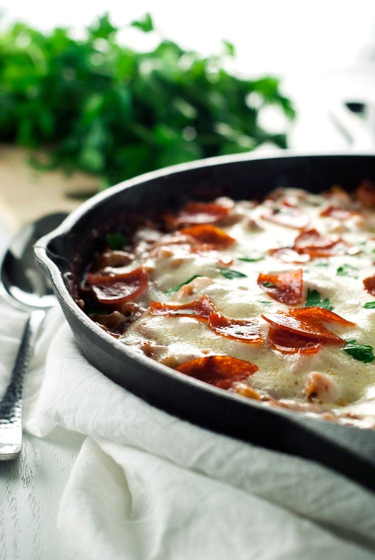 One Pot Pepperoni Pizza Pasta | asimplepantry.com