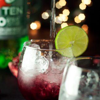 Pomegranate Lime Spritzer | asimplepantry.com