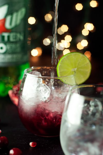 Pomegranate Lime Spritzer