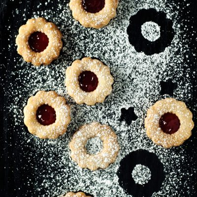 Simple Spiced Linzer Cookies
