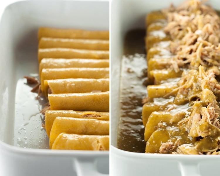 5 Ingredient Chicken Enchiladas | asimplepantry.com