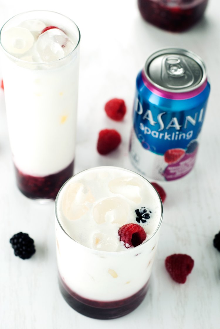 Berry Italian Cream Soda | asimplepantry.com