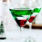 Chocolate Covered Cherry Peppermint Martini | asimplepantry.com