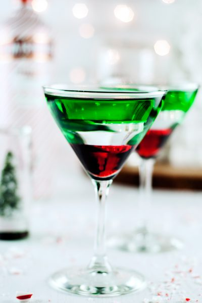 Chocolate Covered Cherry Peppermint Martini