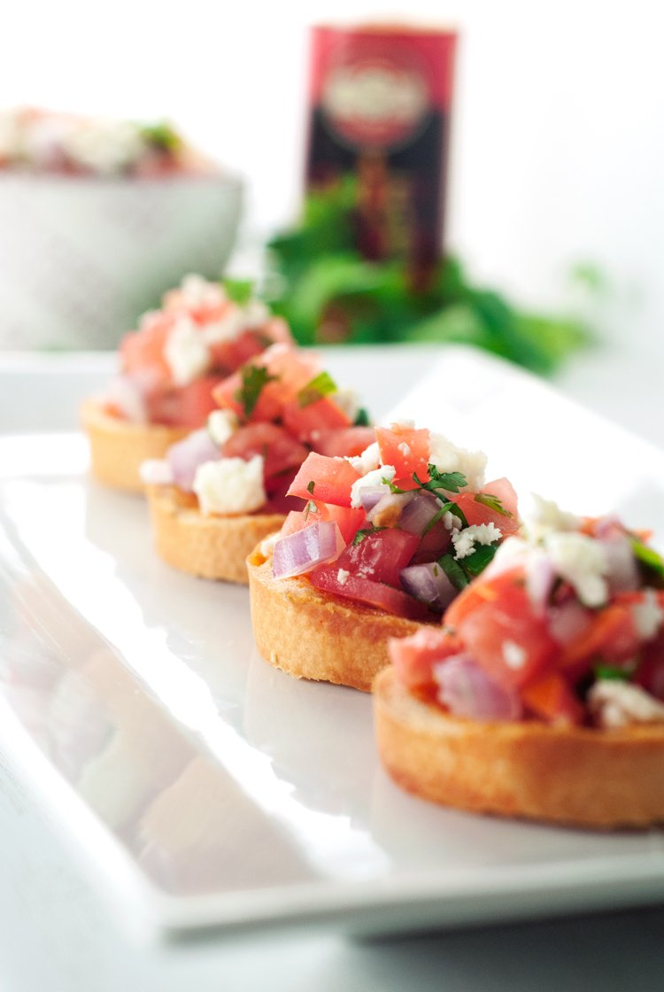 Spicy Mexican Bruschetta | asimplepantry.com