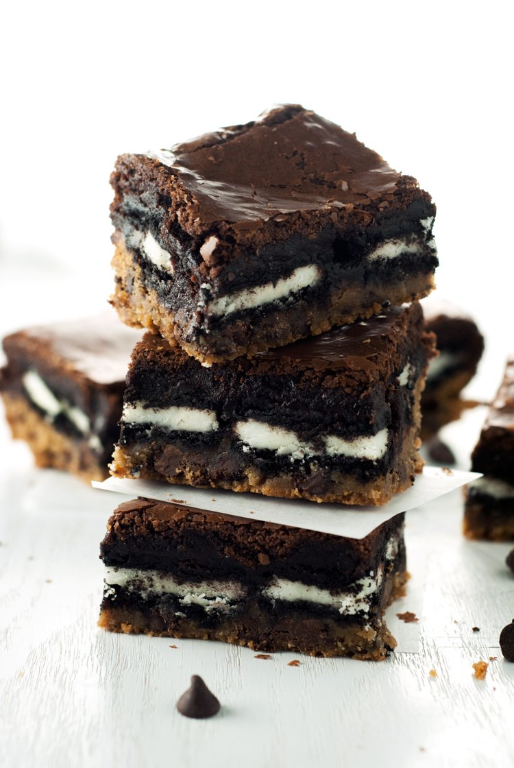 Slutty Brownies Recipe | asimplepantry.com