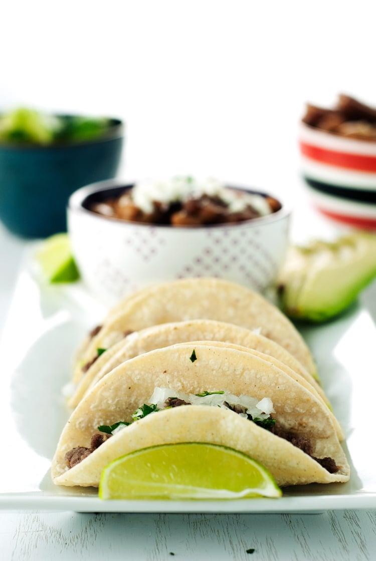 Carne Asada Mexican Street Tacos | asimplepantry.com