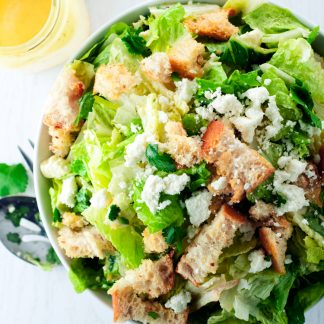 If you love a classic Caesar Salad Recipe, then you are going to adore this Mexican twist, which comes together with the quickness and is so delicious you'll want it with every meal! | asimplepantry.com