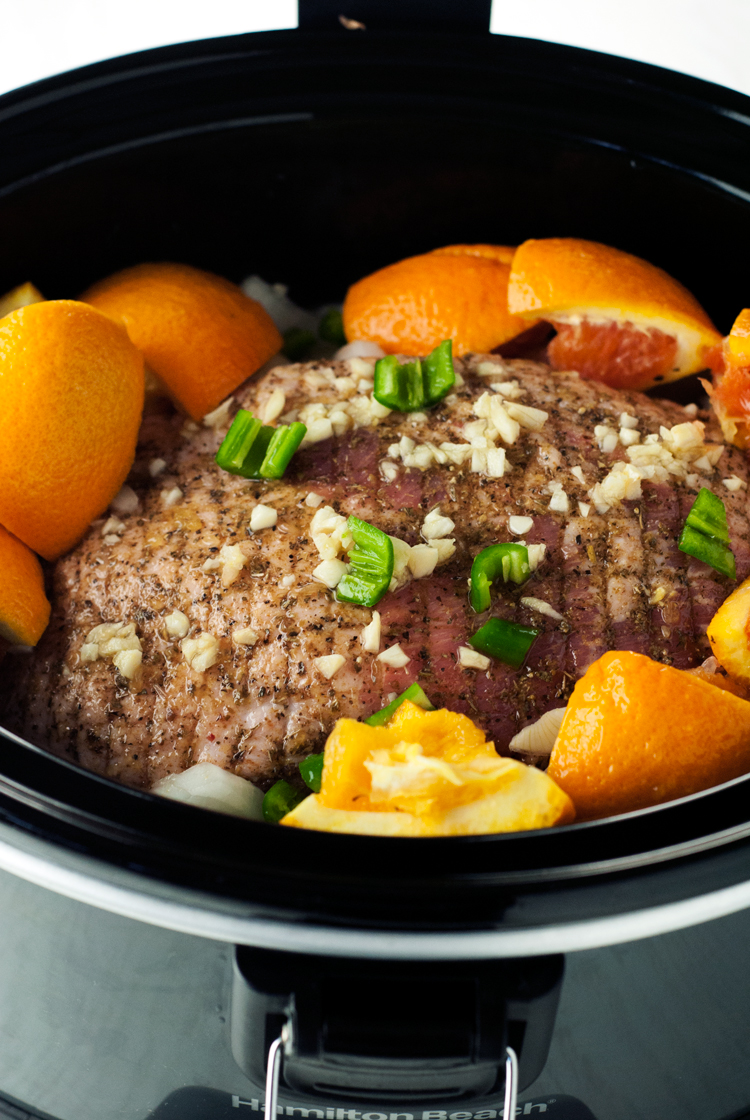 Juicy, flavorful, and so super easy, this slow cooker Mexican pork carnitas recipe is a MUST TRY!   asimplepantry.com