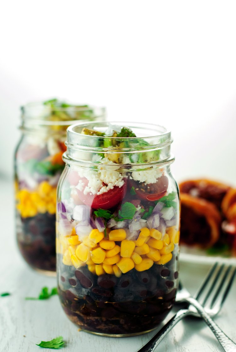 Perfect for taking on-the-go, this black bean and corn salad is packed with flavor, nutrients, AND protein! It's a winning combination, so whip up a batch today!