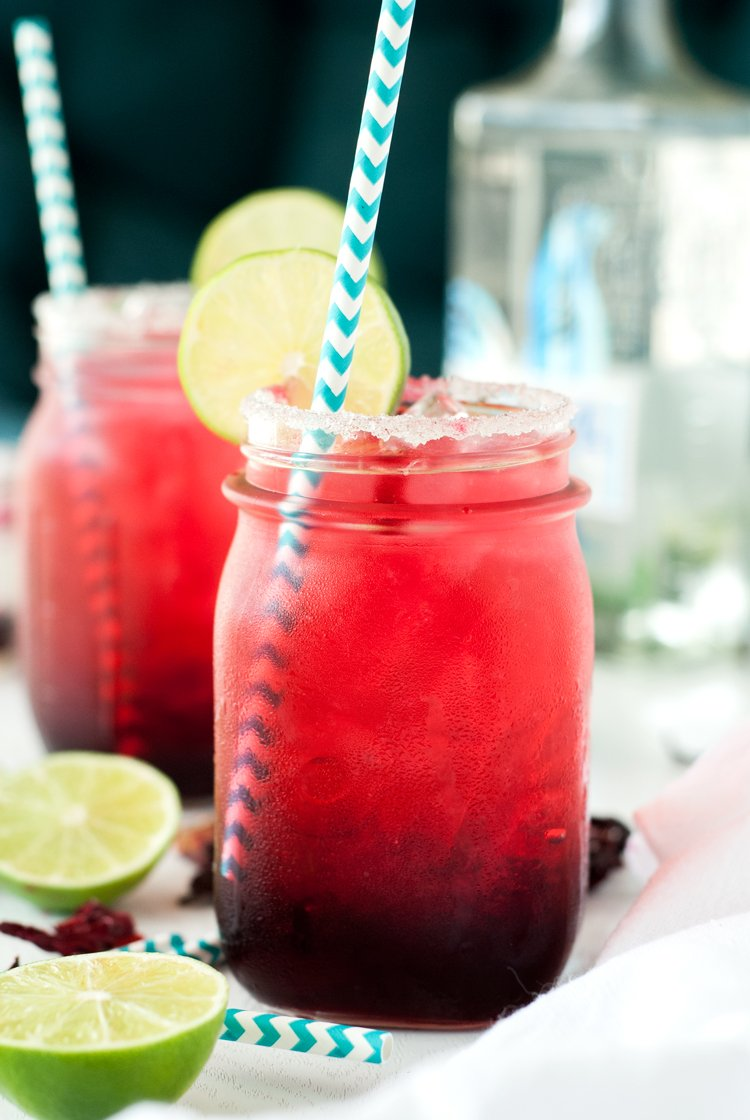 Be the talk of the party when you make this super simple, unique, and delicious Hibiscus Margarita Recipe!   asimplepantry.com
