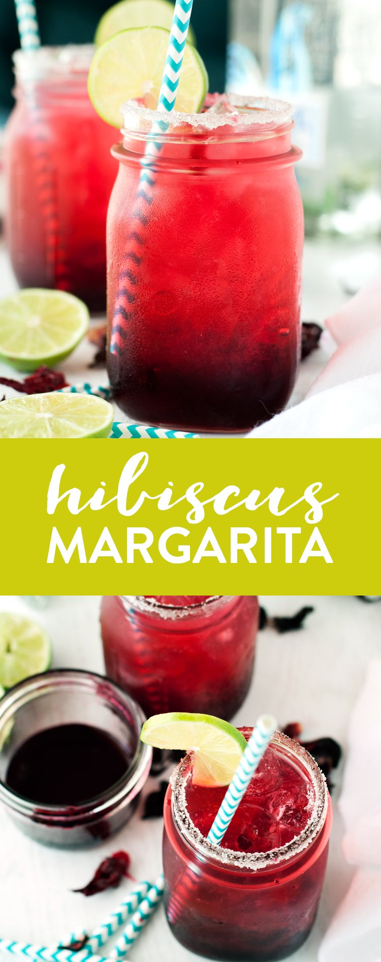Be the talk of the party when you make this super simple, unique, and delicious Hibiscus Margarita Recipe! | asimplepantry.com