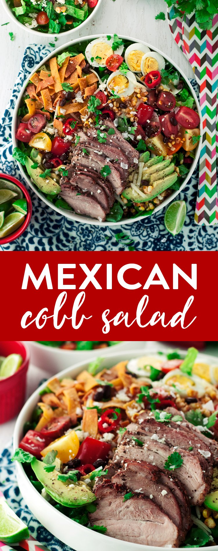 This Mexican Cobb Salad is so easy it'll blow your mind! Bring on the flavor, and don't skimp on the spice! | asimplepantry.com