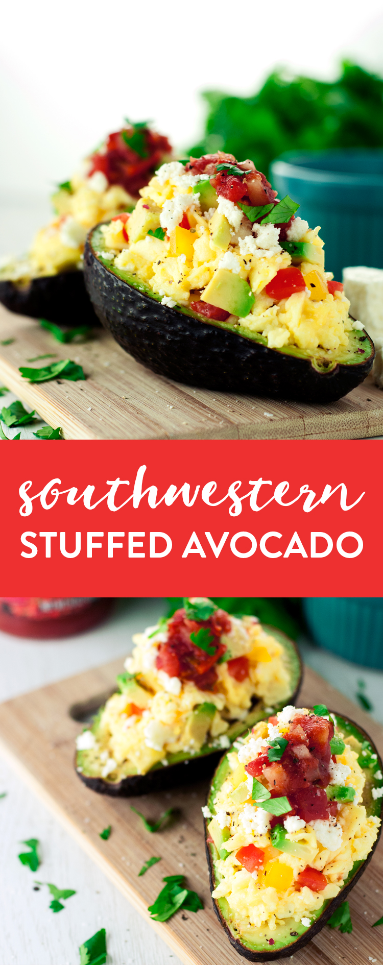 Have a deliciously simple, protein-packed breakfast when you make this Southwestern Stuffed Avocado! Ready in under 15 minutes! | asimplepantry.com