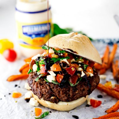 Easy Bruschetta Hamburgers