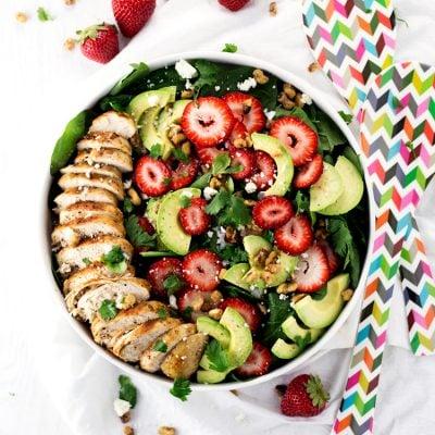 Simple Strawberry Spinach Salad Recipe