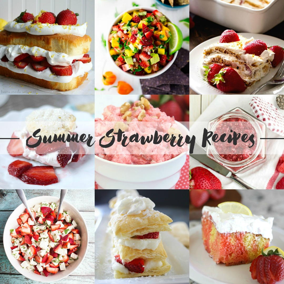Put those strawberries to go use with these amazingly delicious summer strawberry recipes! | asimplepantry.com