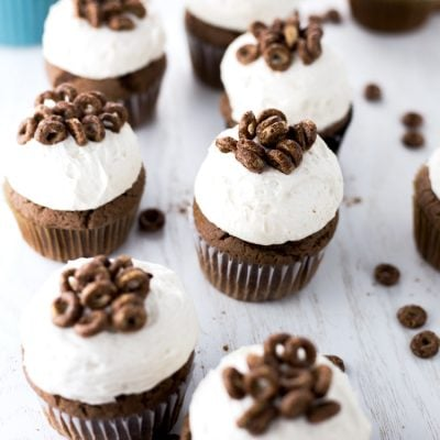 Chocolate Churro Cupcakes with Cinnamon Buttercream